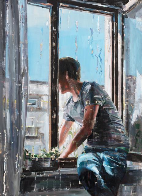 , 'Boy in Window,' 2018, Odon Wagner Gallery