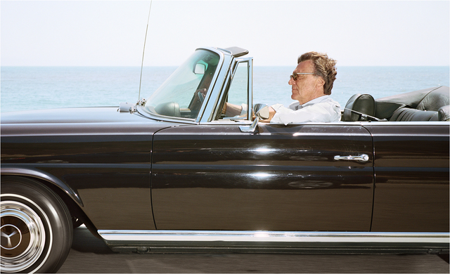 Andrew Bush, 'Man cruising south-southeast at 65 mph on Highway 101 near Toro Canyon on June 19th as the tide is coming in, 2010', 2010, Yossi Milo Gallery