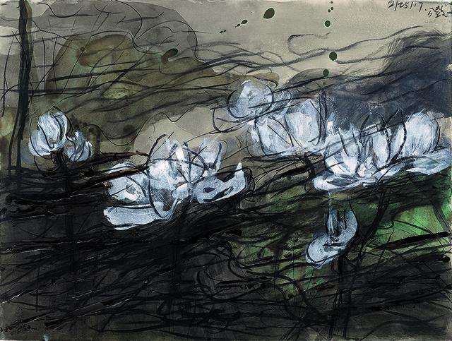 , 'Lotus Diary I,' 2017, Galerie du Monde