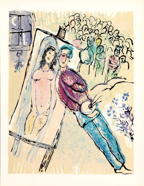 Marc Chagall, 'Combien d'Années (Poèmes, #21)', 1968, Martin Lawrence Galleries