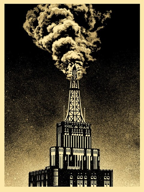 Shepard Fairey, 'Oil And Gas Building', 2014, Dope! Gallery