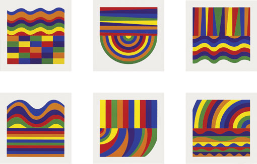 Sol LeWitt, 'Arcs and Bands in Colors A-F', 1999, Schellmann Art