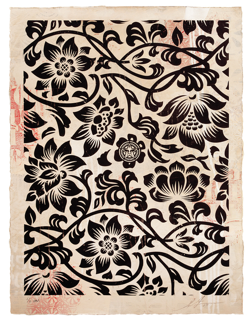 , 'Floral Takeover (Black/Cream),' 2017, Treason Gallery