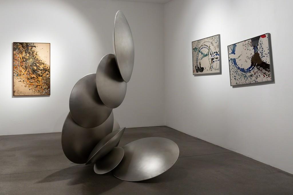 Thomas Schönauer, Footprints, exhibition view, Engelage & Lieder, 2018