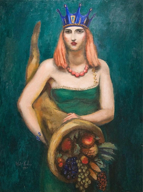 Walt Kuhn, 'Young Woman with Crown and Cornucopia', 1937, Kapoor Galleries / Graham Shay 1857
