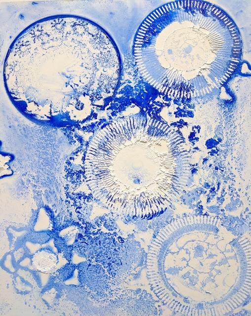 Ellen Hackl Fagan, 'Seeking the Sound of Cobalt Blue_Blue Pinwheels', 2020, Print, Museum Quality Archival Pigment Print on 100% rag textured pape, Ground Floor Gallery
