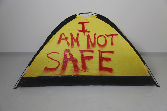 , 'I AM NOT SAFE,' 2017, SABSAY