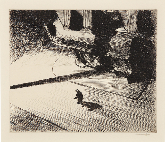 Edward Hopper, 'Night Shadows', 1921, Phillips