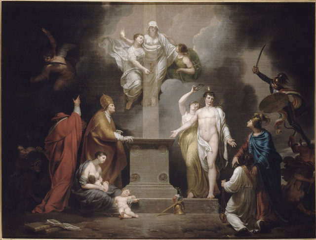 , 'Allégorie du Concordat (Allegory of the Concordat ),' Early 19th century , Château de Fontainebleau