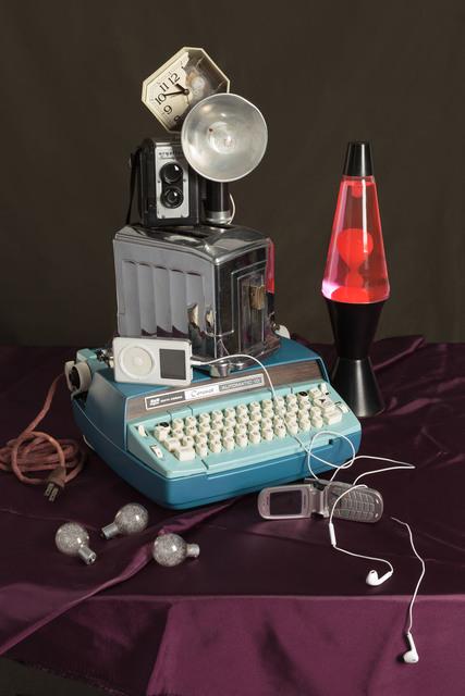 , 'Blue Typewriter,' 2015, KLOMPCHING GALLERY