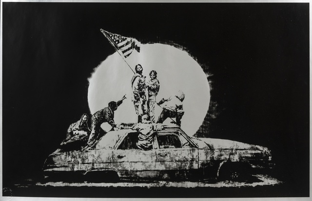 Banksy, 'Silver Flags', 2006, Forum Auctions