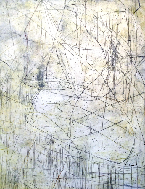 Mark Perlman, 'Raceway', ca. 2019, Painting, Encaustic on panel, Stremmel Gallery