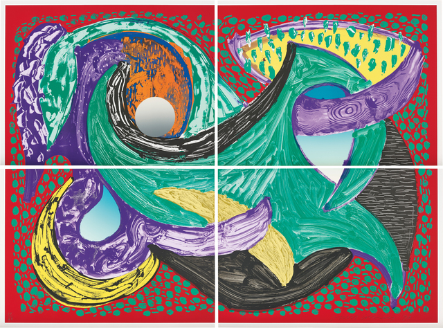 David Hockney, 'Going Round, from Some More New Prints', 1993, Phillips
