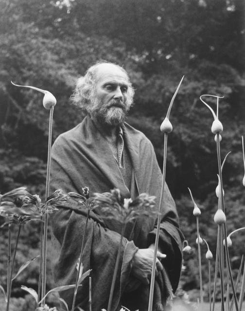 Imogen Cunningham, 'Morris Graves in his Leek Garden', 1973, Photography, Gelatin silver print, G. Gibson Gallery