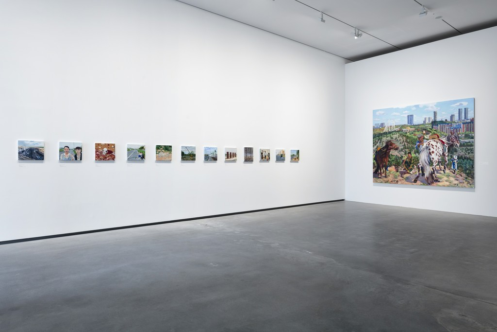 Installation view of exhibition 'Liu Xiaodong: Painting as Shooting' Faurschou Foundation Copenhagen, 2016 Photo by Anders Sune Berg © Faurschou Foundation