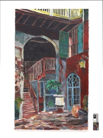 , 'Rampart Street Courtyard,' n.d., New Orleans Museum of Art