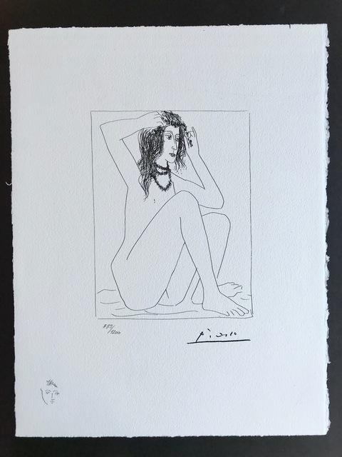 Pablo Picasso, 'Femme nue se couronnant de fleurs (Suite Vollard Planche II)', 1973, ByNewArt
