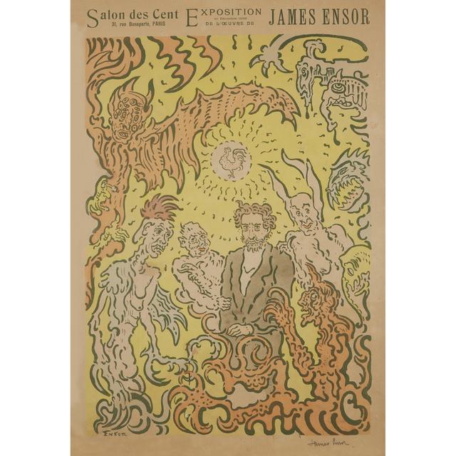 James Ensor, 'Affiche De La Plume', 1898, Freeman's