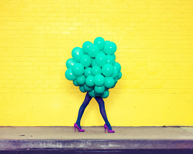 , 'Je Ne Suis Pas Seul Sans Toi (Green Balloons),' 2013, De Soto Gallery