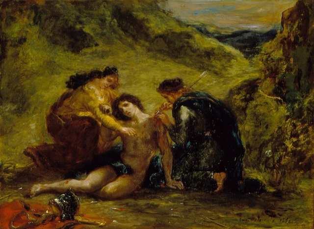 Eugène Delacroix, 'St. Sebastian with St. Irene and Attendant', 1858, Los Angeles County Museum of Art