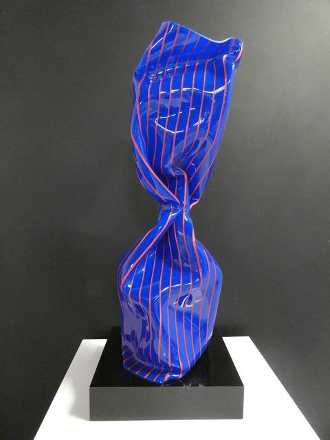 Laurence Jenkell, 'WRAPPING TWIST BLEU RAYE ROUGE', 2019, BOCCARA ART