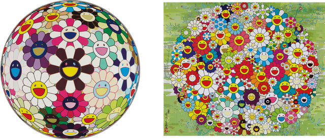 Takashi Murakami, 'Open Your Hands Wide; and Flowerball Brown', 2007-2010, Phillips