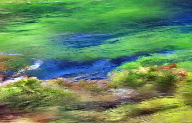 Larry Garmezy, 'The Spring of Life #2 - Abstract / impressionist water photography, waterscape,  floral, natural abstraction, Rocky Mountains, in green and blue.', 2019, Archway Gallery