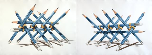 , 'Barricada (diptico) /Barricade (diptych),' 2013, Galeria Enrique Guerrero
