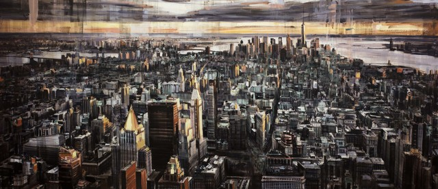 """Valerio D'Ospina, '""""Looking Downtown at Sunset""""', 2018, The Haen Gallery"""
