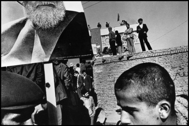 , 'Demonstration in favour of the leading opposition figure Ayatollah Kazem Shariatmadari. Tabriz, Iran. ,' 1980, Magnum Photos