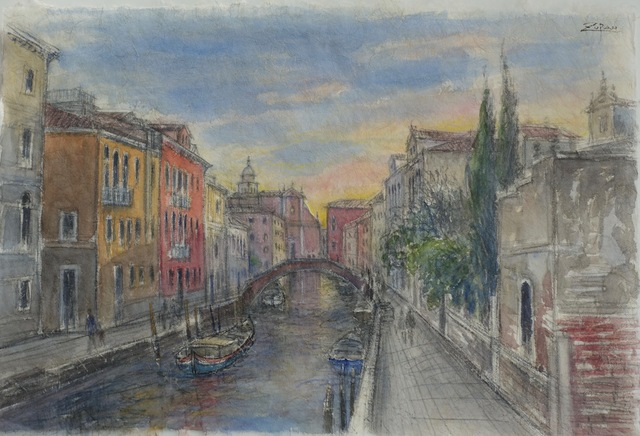 , 'Evening Light on Venetian Canal,' 2017, Galerie d'Orsay