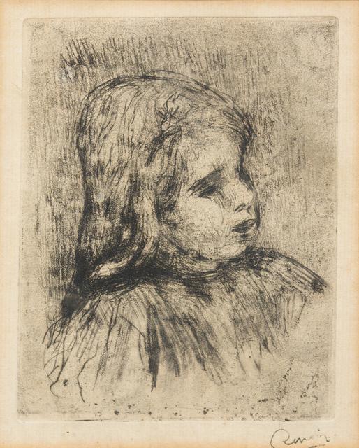 Pierre-Auguste Renoir, 'Claude Renoir, de trois-quarts a droite', 1908, Hindman