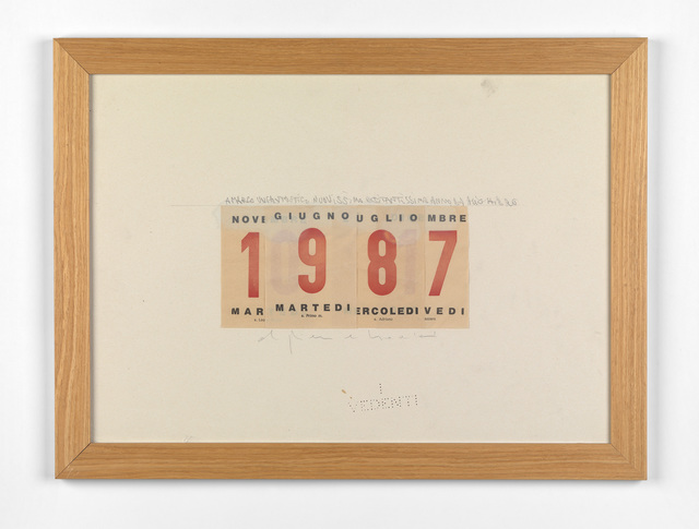 , 'Calendario,' 1987, Ben Brown Fine Arts