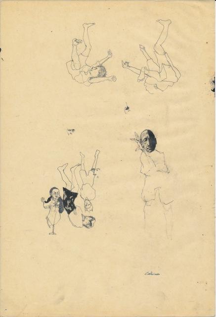 , 'Somnambulists' Prep Sketch I,' 2008, Cob