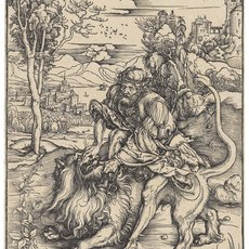 , 'Samson rending the Lion (B. 2; M., Holl. 107; S.M.S. 127),' ca. 1497-1498, Christie's Old Masters