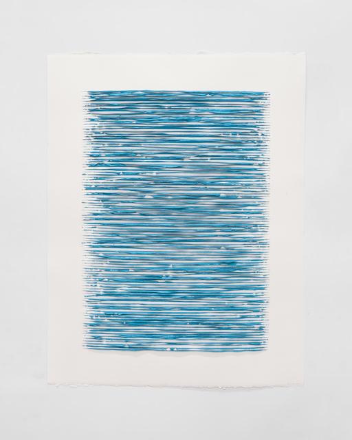 Lars Christensen, 'Color structure #02 (turquise)', 2018, Anne Mosseri-Marlio Galerie