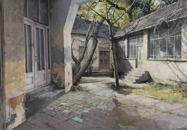, 'Courtyard,' 2016, Shine Artists | Pontone Gallery