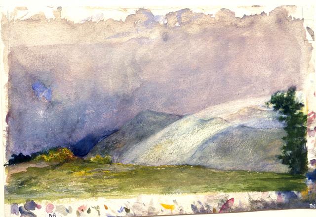 John La Farge, 'Behind the House, Nuuanu Valley, Honolulu, Rainbow on Mountains.', 1890, Clark Art Institute