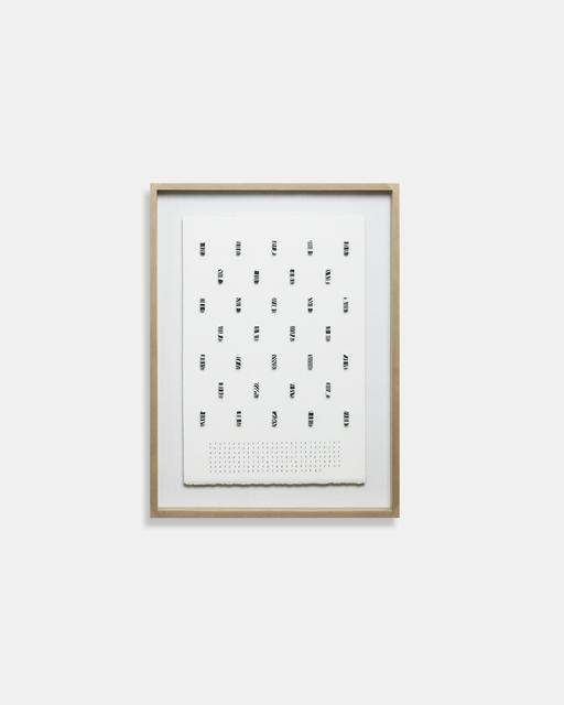 Bae Sejin, 'Waiting for Godot, 216774-216805', 2018, Aubert Jansem Galerie