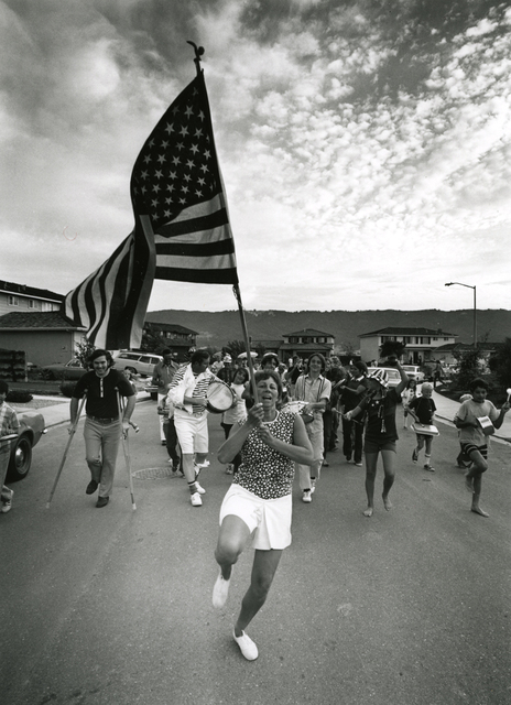, 'Untitled (parade woman holding flag),' 1971, PDNB Gallery