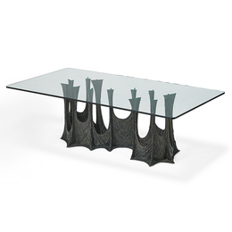 Sculptured Metal Dining Table (Pe 102), USA