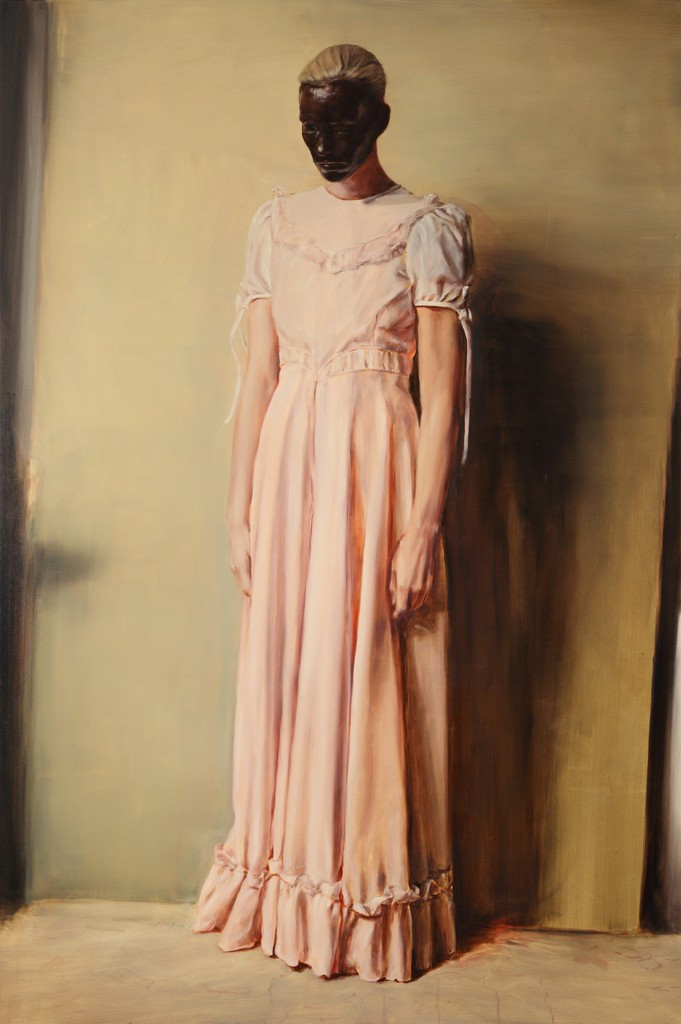 Michaël Borremans, The Angel, 2013, oil on canvas, Courtesy Zeno X Gallery Antwerp, © Michaël Borremans, Photo: Dirk Pauwels