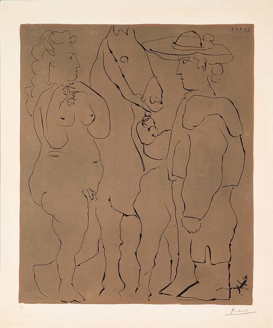 Pablo Picasso, 'Picador, Femme et Cheval (B.913)', 1959, Martin Lawrence Galleries