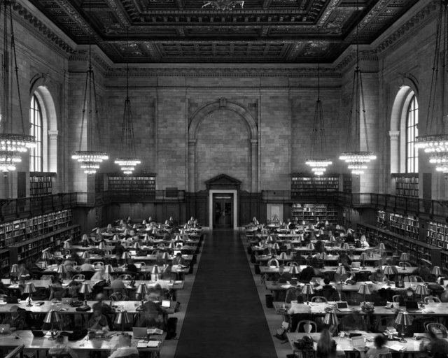 , 'Main Reading Room, New York Public Library (TV11503),' 2011, Duran Mashaal