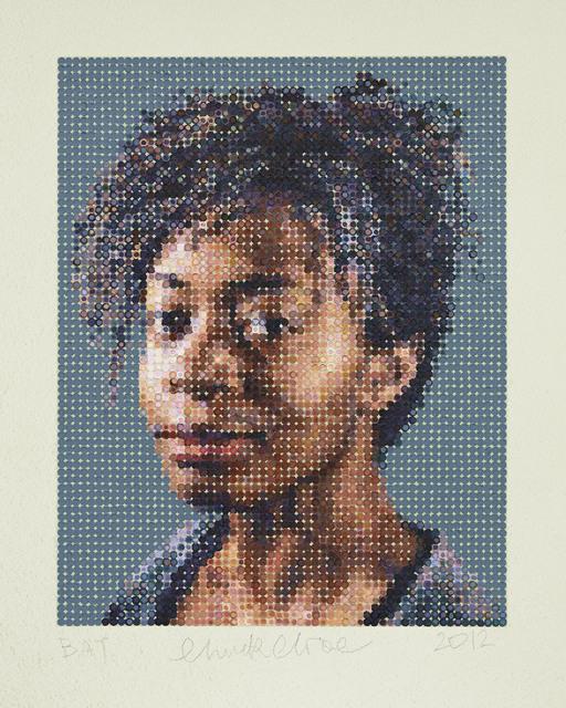 Chuck Close, 'Kara / Felt Hand Stamp,' 2012, Adamson Gallery