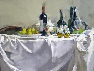 Maggie Siner, 'Putti and 4 Bottles', 2017, J. Cacciola Gallery