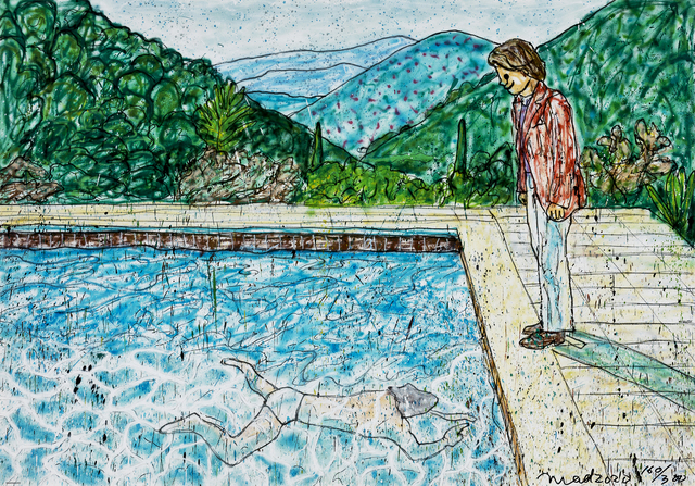 MADSAKI, 'Portrait of an Artist (Pool with Two Figures) II (Inspired by David Hockney)', 2020, Print, Offset print, Seoul Auction