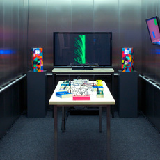 Installation view, Elevator Music: Critter & Guitari, Tang Teaching Museum, 2016