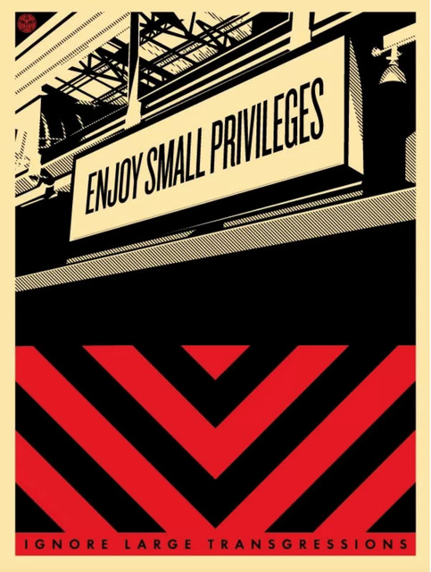 Shepard Fairey, 'Small Privileges', 2011, Art for ACLU Benefit Auction