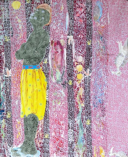 , 'Mom ak taan bi (Lui et le vautour),' 2017, Galerie Cécile Fakhoury - Abidjan